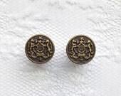 Brass Crest Honor Vintage Style Design Plugs Gauges Size: 0g (8mm), 00g (10mm)