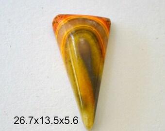 Bumblebee jasper cabochon   26.7 x 13.5 x 5.6