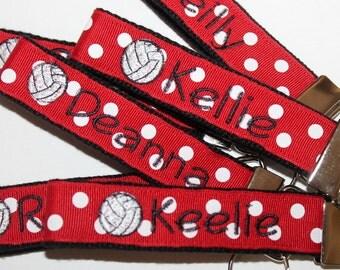 Volleyball Key Fob Made to order key fob Club Volleyball key Fob VB key holder volleyball bag tag volleyball team gift volleyball coach gift