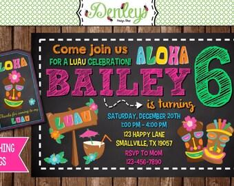 Luau Birthday Invitation (LU02)