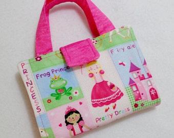 Princess Print Crayon Wallet. Free USPS First Class Shipping/Ready to ship!