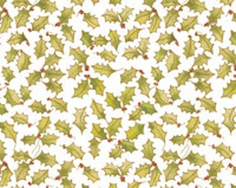 Holly print tissue paper
