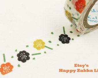 Japanese Washi Masking Tape - Flower Bed - Shinzi Katoh - 11 yards