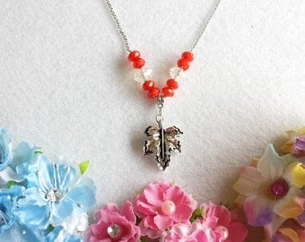 Maple Leaf Necklace Inspired by Canada