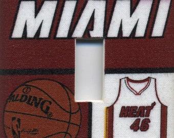 Miami Heat Single Light Switch Plate