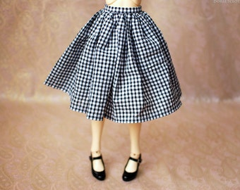 SD13 Black And White Gingham Skirt For BJD