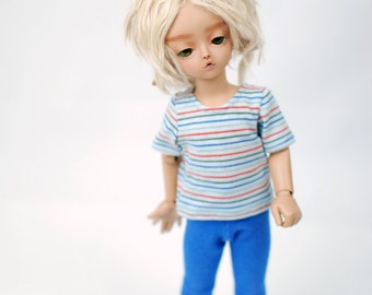 YoSD Teenie Gem Blue Striped T Shirt For BJD
