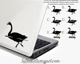 Swan Decal Vinyl Sticker - Silhouette My Pet Design:BIR-SWA01