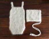 PDF Knitting Pattern - SITTER_6-9 months Teddy sitter romper & hat SET #8S