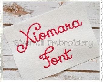 Xiomara Machine Embroidery Font Monogram Alphabet - 3 Sizes