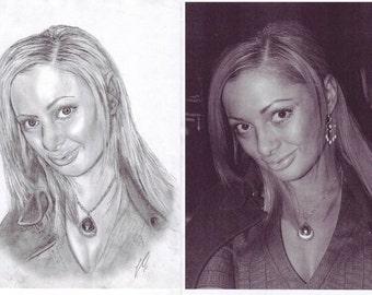 Custom Pencil Portrait from Photo