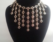 NOW ON SALE Vintage Bib Necklace ** 1950's 1960's ** Mid Century Accessory ** Mad Men Mod ** Old Hollywood Glamour