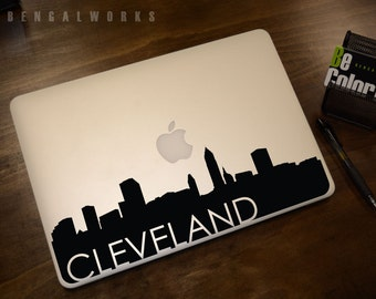 Cleveland Skyline Macbook Decal 3 | Macbook Sticker | Laptop Decal | Laptop Sticker | Car Sticker