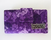 Purple Women's Wallet with Coin Purse and Card Slots