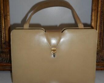 Vintage 1960's Palizzio Tan Leather Handbag