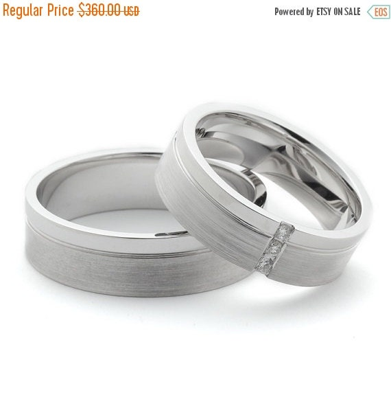 ON SALE Matching Wedding Ring Sets With by FirstClassJewelry