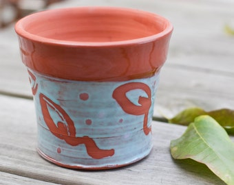 Terracotta planter, Succulent planter, Wheel thrown pottery, earthenware planter, terracotta planter, handmade clay planter, herb planter