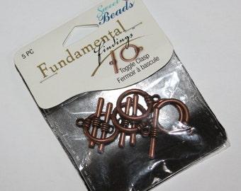 5 Pc toggel clasp copper