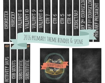 2016 Primary Theme binder covers