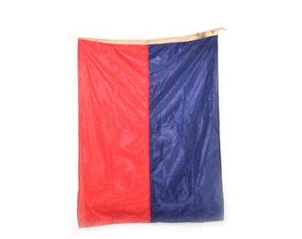 Nautical Flag Signal Flag Ships Flag Red and Blue Flag Nursery Decor Signal Flag E