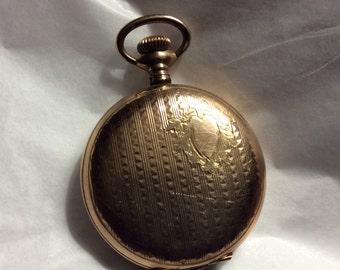 Vintage Gold Metal Pocket Watch Case