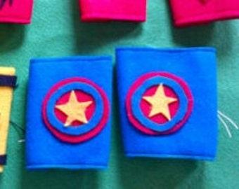 Superhero Cuffs Package of 4 pairs Superhero package