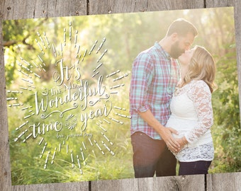 Most Wonderful Time of the Year Holiday Photo Card- Digital