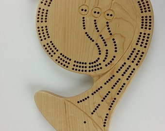 3 Track Maple French Horn Cribbage Board