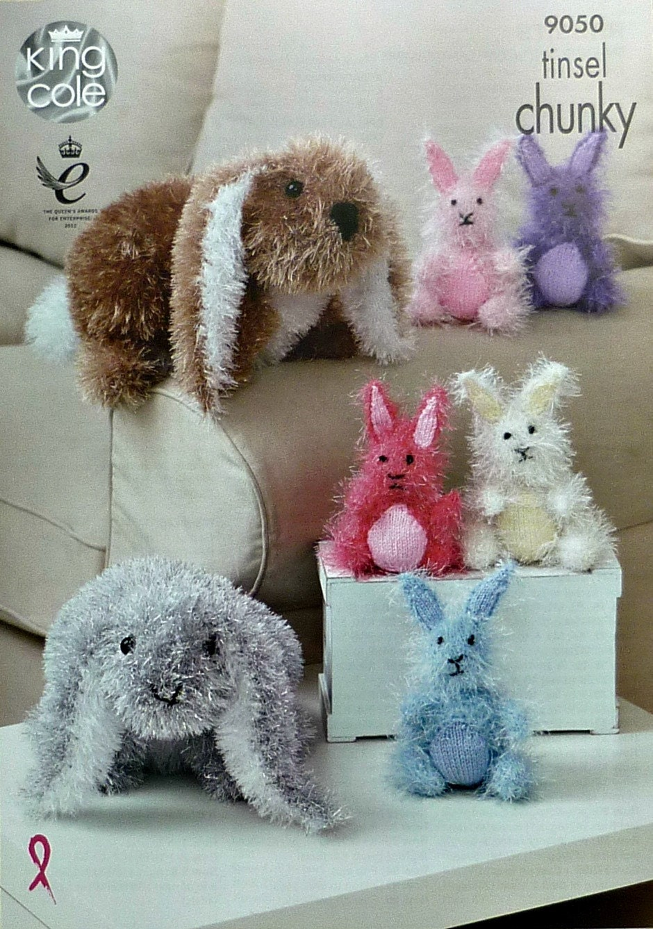 Knitting Patterns Rabbit Soft Toy : Knitted toys knitting pattern k large and small bunny