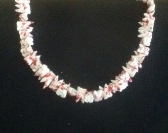 Large Bloody Human Teeth necklace - Mens, goth, grunge, halloween,