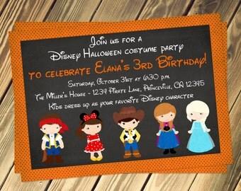 Disney Costume Party Birthday Invitation Print Your Own