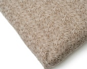 Herringbone Brown Waterproof Dog Bed Designer Dog Bed Washable Dog Bed Modern Dog Bed Herringbone Dog Bed Brown and White Herringbone