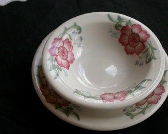 Homer Laughlin Restaurant Ware Berry Bowl with Saucer