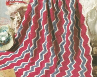 The Needlecraft Shop Ripple Sensations   Vintage Cameo   Afghan Collector's Series Pattern