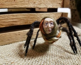 Wendy the Weaver: Handmade sculpture of a spider