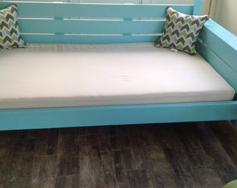 One Custom Twin  Size Mattress Cover   - Indoor/Outdoor Natural