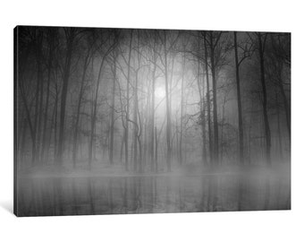 iCanvas Morning Mist Gallery Wrapped Canvas Art Print by Beth Lutz