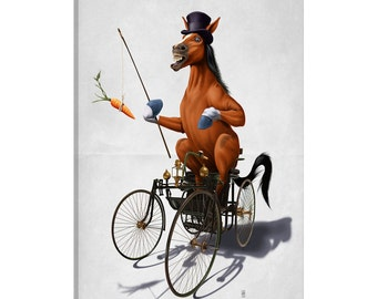 iCanvas Horse Power II Gallery Wrapped Canvas Art Print by Rob Snow
