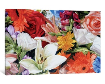 iCanvas Max's Flowers Gallery Wrapped Canvas Art Print by Thomas Darnell