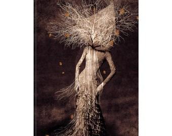 iCanvas Dark Portrait In Autumn Gallery Wrapped Canvas Art Print by Viviana Gonzalez