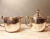Derby Silver Plate Co. Sugar and Creamer Set
