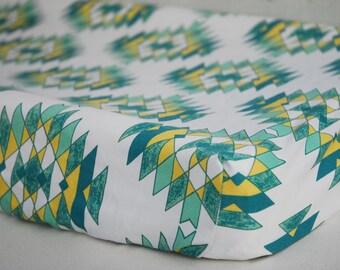 Organic Baby Bedding, Crib Sheet, Changing Pad Cover - Southwestern Pineapple,  Southwest, Desert, Southwestern Decor
