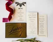 Downtown Deco Program, Menu, Escort Card, Place card, Table Number