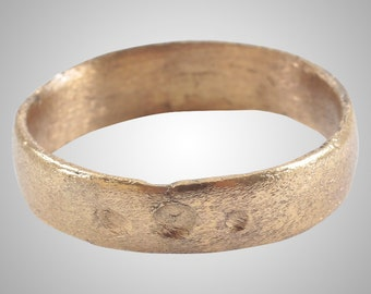 Authentic Ancient Viking  wedding Ring Band  C.866-1067A.D. Size 8 1/2 (19mm)(Brr1111)