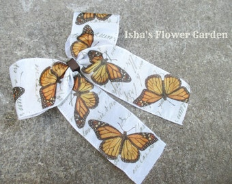 Monarch butterfly hair bow, Butterfly hairbow, hair bow, monarch accessories