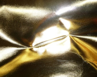 """Leather 8""""x10"""" Metallic Gold Foil Cowhide 2.5-3 oz / 1-1.2 mm PeggySueAlso™"""