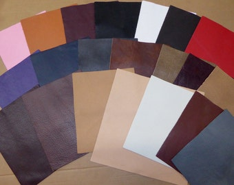 Leather KING line 3 - 6 sq ft Choose from 23 colors from our Cowhide Soft Full grain Your choice of color 3-3.5oz/1.2-1.4 mm PeggySueAlso™
