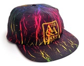 Crackly 80s Neon Gradient A&A Group Snapback Cap
