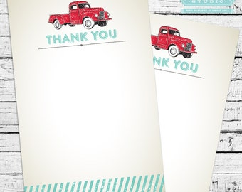 Vintage Truck Thank You Notes