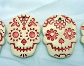 Day of the Dead Skull Ornaments, Skull Home Decor, Day of the Dead Set, Halloween Decor, Hanging Skull Ornaments, Day of the Dead Skull Set